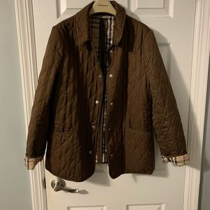 Brown Burberry quilted jacket size Medium